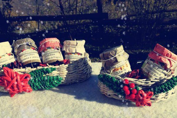 Cesti regalo di Natale con prodotti biologici